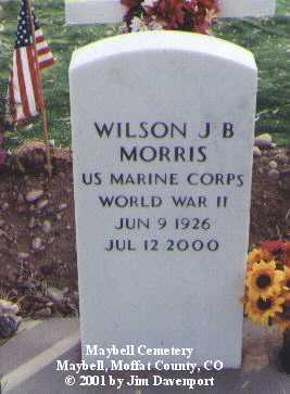 MORRIS, WILSON J. B. - Moffat County, Colorado | WILSON J. B. MORRIS - Colorado Gravestone Photos