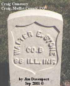 STONE, WALTER E. - Moffat County, Colorado | WALTER E. STONE - Colorado Gravestone Photos