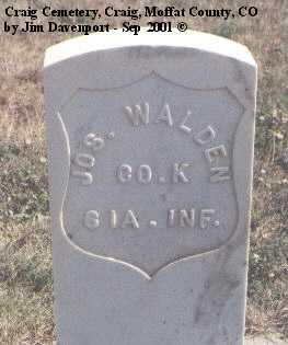WALDEN, JOS. - Moffat County, Colorado | JOS. WALDEN - Colorado Gravestone Photos