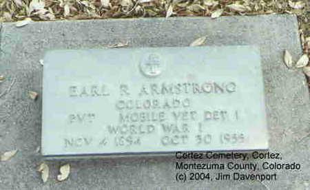 ARMSTRONG, EARL R. - Montezuma County, Colorado | EARL R. ARMSTRONG - Colorado Gravestone Photos