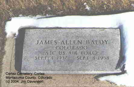BALDY, JAMES ALLEN - Montezuma County, Colorado | JAMES ALLEN BALDY - Colorado Gravestone Photos