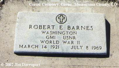 BARNES, ROBERT E. - Montezuma County, Colorado | ROBERT E. BARNES - Colorado Gravestone Photos