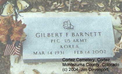 BARNETT, GILBERT F. - Montezuma County, Colorado | GILBERT F. BARNETT - Colorado Gravestone Photos