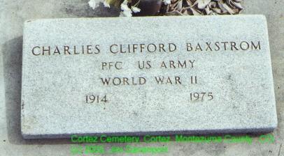 BAXSTROM, CLIFFORD - Montezuma County, Colorado | CLIFFORD BAXSTROM - Colorado Gravestone Photos