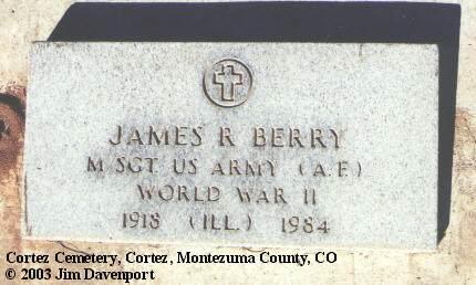 BERRY, JAMES R. - Montezuma County, Colorado | JAMES R. BERRY - Colorado Gravestone Photos