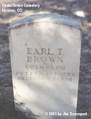 BROWN, EARL T. - Montezuma County, Colorado | EARL T. BROWN - Colorado Gravestone Photos