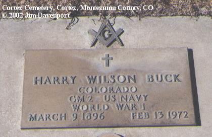BUCK, HARRY WILSON - Montezuma County, Colorado | HARRY WILSON BUCK - Colorado Gravestone Photos