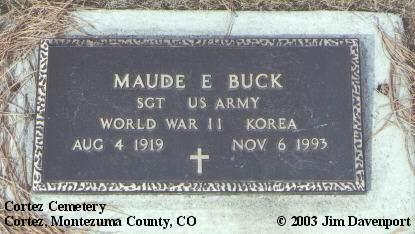 BUCK, MAUDE E. - Montezuma County, Colorado   MAUDE E. BUCK - Colorado Gravestone Photos