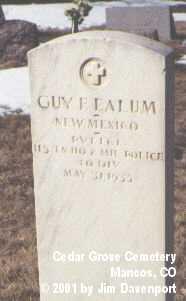 EALUM, GUY F. - Montezuma County, Colorado   GUY F. EALUM - Colorado Gravestone Photos