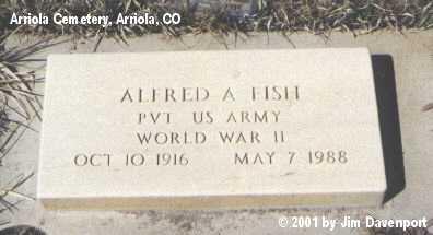 FISH, ALFRED A. - Montezuma County, Colorado | ALFRED A. FISH - Colorado Gravestone Photos