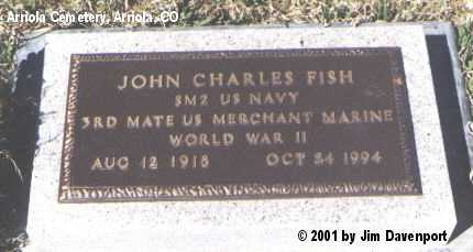 FISH, JOHN CHARLES - Montezuma County, Colorado | JOHN CHARLES FISH - Colorado Gravestone Photos
