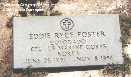 FOSTER, EDDIE RYCE - Montezuma County, Colorado | EDDIE RYCE FOSTER - Colorado Gravestone Photos
