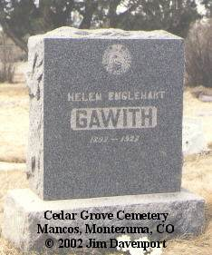 GAWITH, HELEN - Montezuma County, Colorado | HELEN GAWITH - Colorado Gravestone Photos