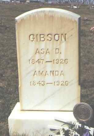 GIBSON, ASA D. - Montezuma County, Colorado | ASA D. GIBSON - Colorado Gravestone Photos