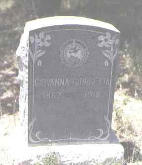 GIORGETTA, GIOVANNA - Montezuma County, Colorado | GIOVANNA GIORGETTA - Colorado Gravestone Photos