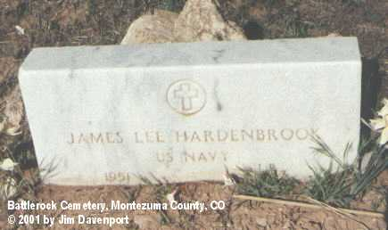 HARDENBROOK, JAMES LEE - Montezuma County, Colorado | JAMES LEE HARDENBROOK - Colorado Gravestone Photos