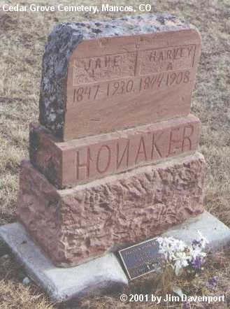 HONAKER, HARVEY A. - Montezuma County, Colorado | HARVEY A. HONAKER - Colorado Gravestone Photos