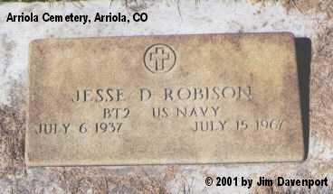 ROBINSON, JESSE D. - Montezuma County, Colorado   JESSE D. ROBINSON - Colorado Gravestone Photos