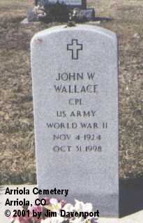 WALLACE, JOHN W. - Montezuma County, Colorado | JOHN W. WALLACE - Colorado Gravestone Photos