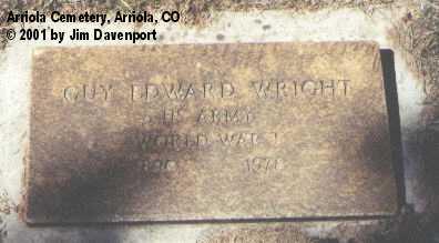 WRIGHT, GUY EDWARD - Montezuma County, Colorado | GUY EDWARD WRIGHT - Colorado Gravestone Photos