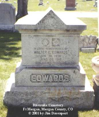 EDWARDS, WALTER E. - Morgan County, Colorado | WALTER E. EDWARDS - Colorado Gravestone Photos