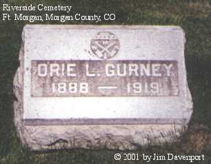 GURNEY, ORIE L. - Morgan County, Colorado | ORIE L. GURNEY - Colorado Gravestone Photos