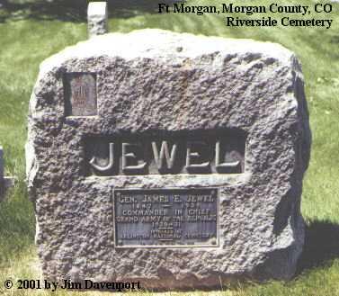 JEWEL, GEN. JAMES E. - Morgan County, Colorado   GEN. JAMES E. JEWEL - Colorado Gravestone Photos