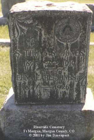 JONES, S. THOMAS - Morgan County, Colorado | S. THOMAS JONES - Colorado Gravestone Photos