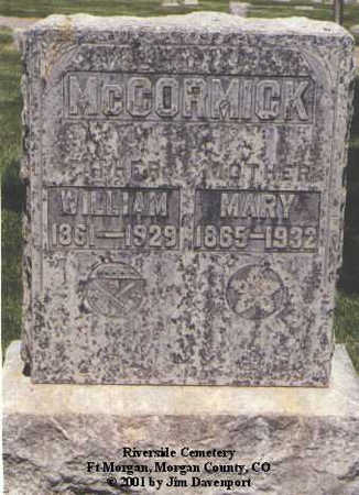 MCCORMICK, WILLIAM - Morgan County, Colorado | WILLIAM MCCORMICK - Colorado Gravestone Photos