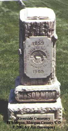 MOON, MASON - Morgan County, Colorado | MASON MOON - Colorado Gravestone Photos