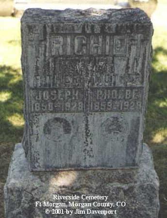 RICHIE, PHOEBE - Morgan County, Colorado | PHOEBE RICHIE - Colorado Gravestone Photos