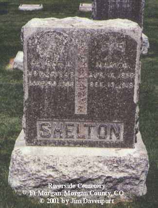 SHELTON, GEORGE W. - Morgan County, Colorado | GEORGE W. SHELTON - Colorado Gravestone Photos