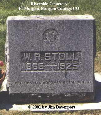 STOLL, W. R. - Morgan County, Colorado | W. R. STOLL - Colorado Gravestone Photos