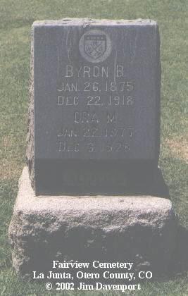 ADAMS, BRYON B. - Otero County, Colorado | BRYON B. ADAMS - Colorado Gravestone Photos