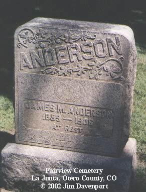 ANDERSON, JAMES M. - Otero County, Colorado | JAMES M. ANDERSON - Colorado Gravestone Photos