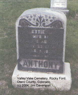 ANTHONY, NETTIE M. - Otero County, Colorado | NETTIE M. ANTHONY - Colorado Gravestone Photos