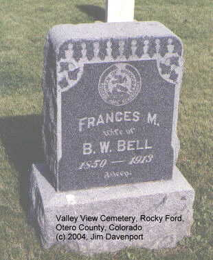 BELL, FRANCES M. - Otero County, Colorado   FRANCES M. BELL - Colorado Gravestone Photos