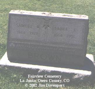 BROWN, SAMUEL W. - Otero County, Colorado | SAMUEL W. BROWN - Colorado Gravestone Photos