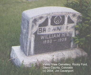 BROWNLOW, WILLIAM H. - Otero County, Colorado | WILLIAM H. BROWNLOW - Colorado Gravestone Photos