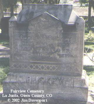 BUCKEY, GEORGE R. - Otero County, Colorado | GEORGE R. BUCKEY - Colorado Gravestone Photos