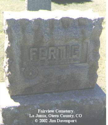 FERTIG, WELBY J. - Otero County, Colorado | WELBY J. FERTIG - Colorado Gravestone Photos