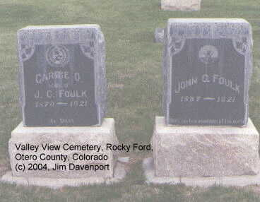 FOULK, CARRIE O. - Otero County, Colorado | CARRIE O. FOULK - Colorado Gravestone Photos