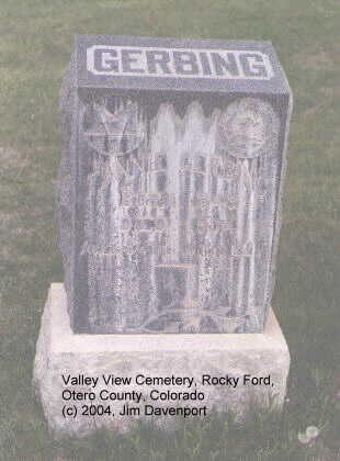 GERBING, FANNIE - Otero County, Colorado | FANNIE GERBING - Colorado Gravestone Photos