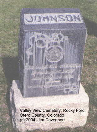 JOHNSON, IDA A. - Otero County, Colorado | IDA A. JOHNSON - Colorado Gravestone Photos