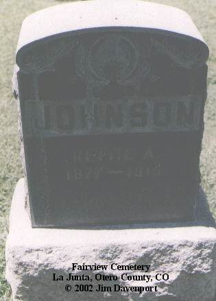 JOHNSON, RETTIE A. - Otero County, Colorado | RETTIE A. JOHNSON - Colorado Gravestone Photos