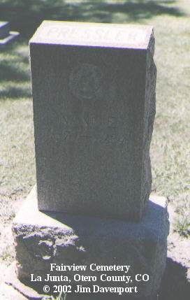 PRESSLER, NANNIE - Otero County, Colorado | NANNIE PRESSLER - Colorado Gravestone Photos