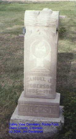 ROBERSON, SAMUEL J. - Otero County, Colorado | SAMUEL J. ROBERSON - Colorado Gravestone Photos