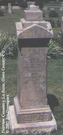 ROBERTS, STEPHEN E. - Otero County, Colorado | STEPHEN E. ROBERTS - Colorado Gravestone Photos