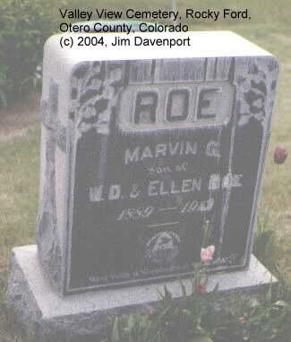 ROE, MARVIN G. - Otero County, Colorado | MARVIN G. ROE - Colorado Gravestone Photos