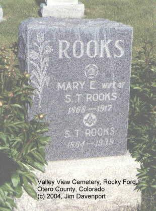 ROOKS, MARY E. - Otero County, Colorado | MARY E. ROOKS - Colorado Gravestone Photos